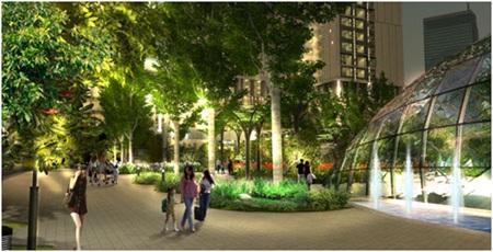 Góc hoa viên – trung tâm dự án Eco-Green City