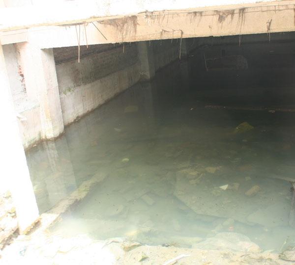 Tầng hầm của dự án nước ngập thành ao