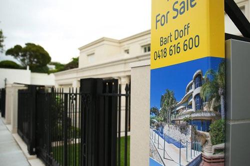 Một căn nhà được rao bán ở TP Sydney - Úc Ảnh: Bloomberg News