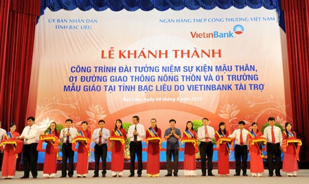 VietinBank tài trợ 40 tỷ đồng cho tỉnh Bạc Liêu