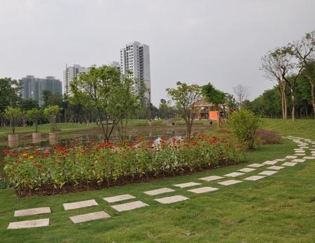Công viên cây xanh Ecopark mới khánh thành