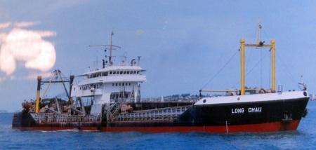 Tàu nạo vét biển của Công ty Nạo vét đường biển.