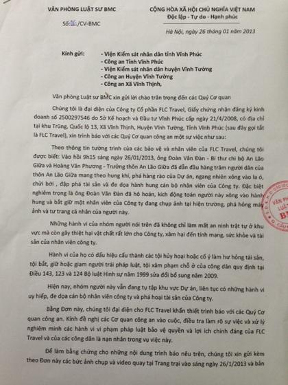 Đề nghị khởi tố vụ bắt giữ người trái phép tại huyện Vĩnh Tường