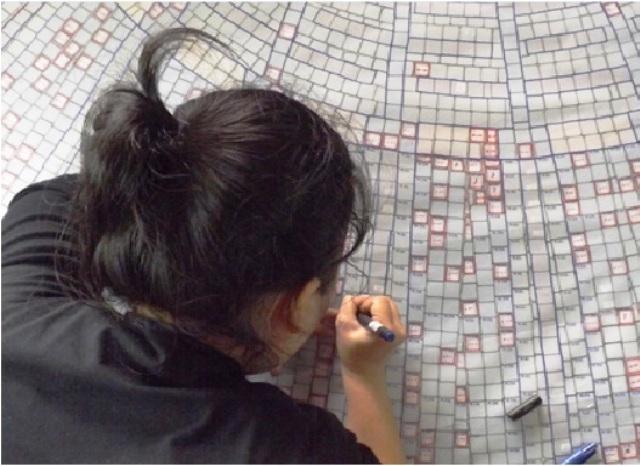 Các bản vẽ đều có ký hiệu vị trí, hướng, chụp ảnh (chụp không ảnh) nhằm phục vụ cho việc bóc tách gạch cũng như gắn, thay thế gạch khi bảo tồn.