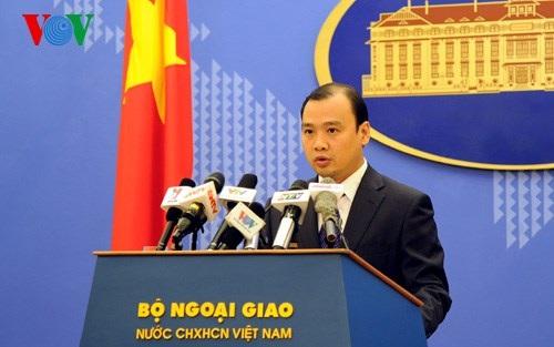Người phát ngôn Bộ Ngoại giao Việt Nam Lê Hải Bình (Ảnh: VOV).