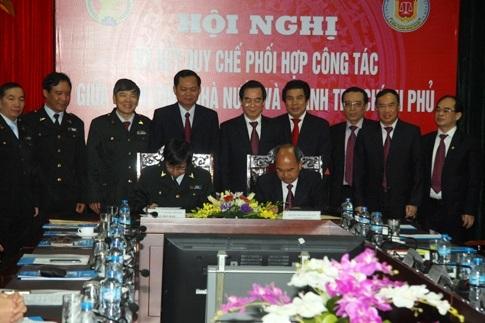 Lãnh đạo Thanh tra Chính phủ và Kiểm toán Nhà nước ký kết quy chế phối hợp.