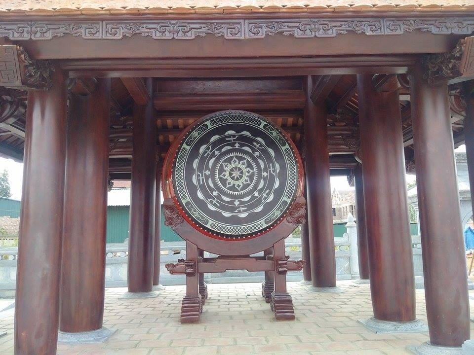 Gác trống trong khu Văn Miếu tỉnh Vĩnh Phúc.