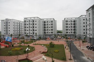 Một góc khu đô thị Việt Hưng.