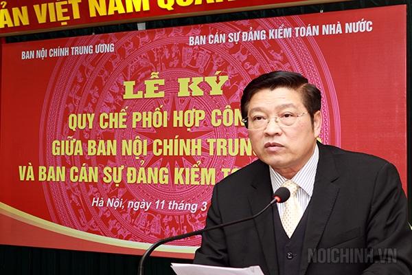 Ông Phan Đình Trạc - Phó trưởng ban thường trực Ban Nội chính Trung ương.
