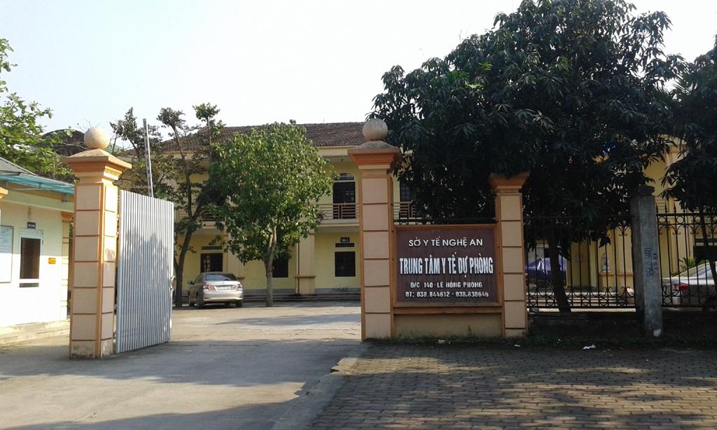 Trung tâm y tế dự phòng Nghệ An (Ảnh: Hoàng Lam)