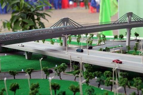 Phối cảnh dự án đường sắt đô thị Hà Nội, tuyến Ngọc Hồi - Yên Viên.