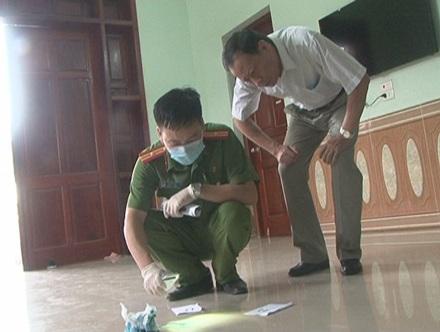 Thượng tướng Lê Quý Vương, Thứ trưởng Bộ CA trực tiếp có mặt tại hiện trường chỉ đạo công tác điều tra.