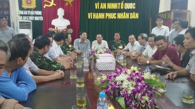 Lãnh đạo tỉnh Quảng Ninh, Hải Phòng chúc mừng Ban chuyên án.