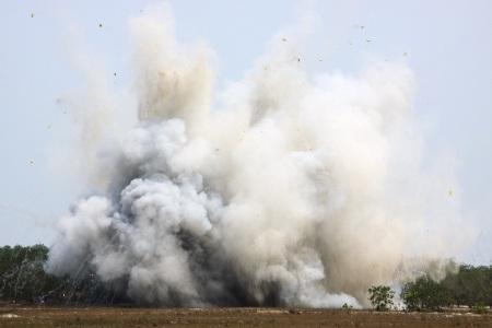 Số bom, đạn vừa phát hiện đã được lực lượng của MAG Quảng Trị xử lý nổ an toàn