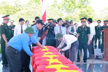 Những hài cốt liệt sĩ này được tìm thấy tại các huyện ở tỉnh Savannakhet (Lào)
