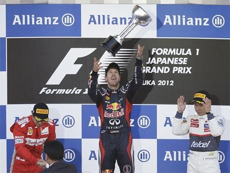 Vettel chỉ còn kém Alonso 4 điểm và lại tràn đầy cơ hội bảo vệ ngôi VĐ
