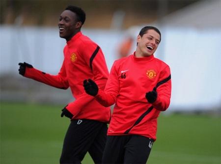 Welbeck vàChicharito mang lại cơn đau đầu dễ chịu cho HLV Alex Ferguson