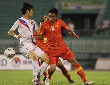 Việt Nam cải thiện lối chơi đáng kể ở trận đấu này, ảnh: Sơn Dũng