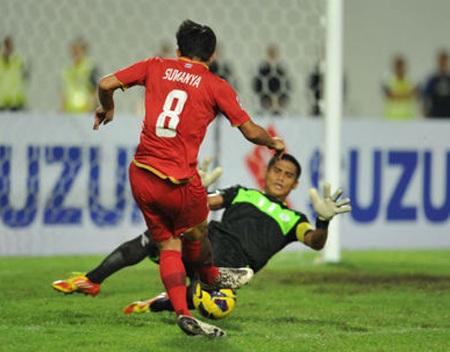 Singapore và Philippines đã phải chấp nhận một trận hòa không bàn thắng