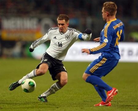 Đức đã chơi một trận trên chân đối phương