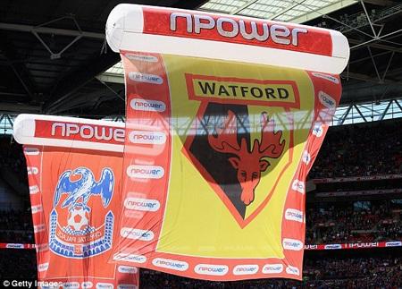 Trận tranh cúp play-off giữa Crystal Palace và Watford được tổ chức tại Wembely