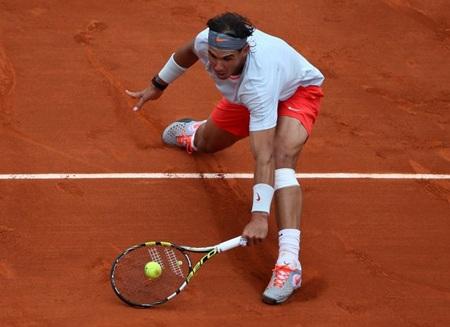 Khả năng giao bóng của Nadal ở trận này chưa tốt như thường có