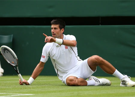 Djokovic không mất nhiều thời gian để giành thế chủ động
