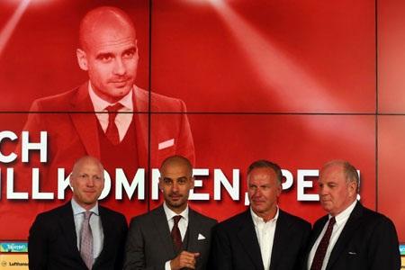 Chiều qua, 24/6 Pep Guardiola chính thức tới Allianz Arena để ra mắt CLB mới
