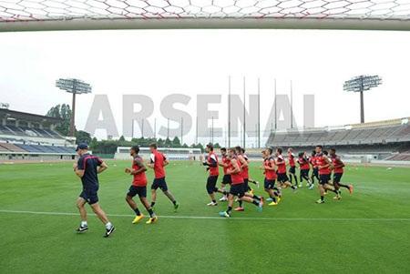 Thời tiết khi Arsenal bắt đầu buổi tập khá tốt