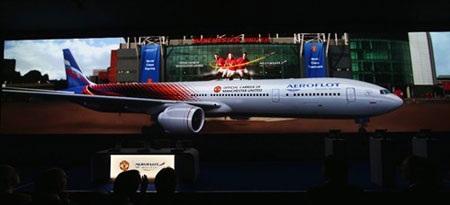 Aeroflot trở thành đơn vị vận tải chính thức của MU