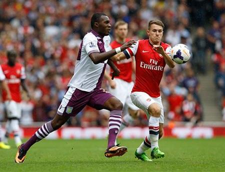 Aston Villa đã phá lối chơi của Arsenal khá hiệu quả