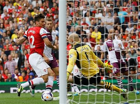 Giroud đã ghi bàn thắng đầu tiên cho Arsenal ở mùa giải năm nay