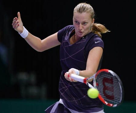 Kvitova đã có suất nhì bảng và giành vé vào bán kết