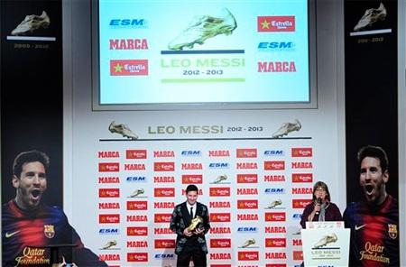 Buổi lễ trao thưởng của Messi được tổ chức ngay tại Tây Ban Nha