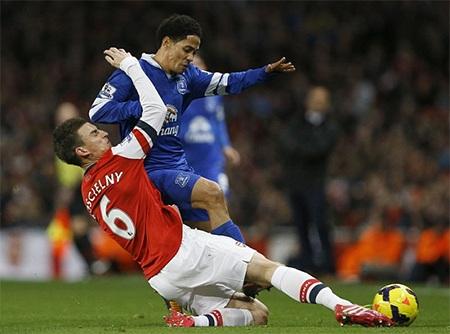 Arsenal đã phải chia điểm với Everton trong lần gặp thứ 3 liên tiếp gần đây