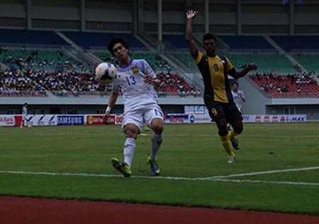 U23 Lào đã chơi đầy tự tin trước U23 Malaysia