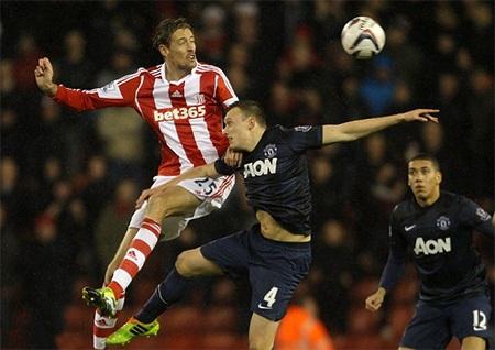 Lối chơi của Stoke ở trận đấu này không rõ ràng