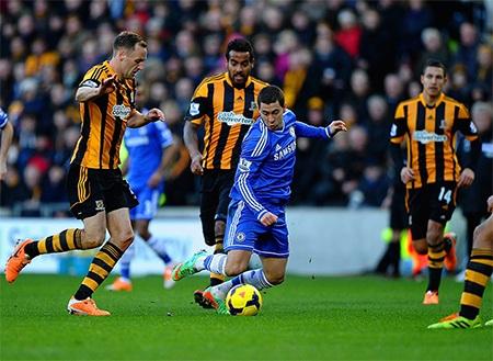 Hazard vẫn là cầu thủ thi đấu năng nổ nhất bên phía Chelsea