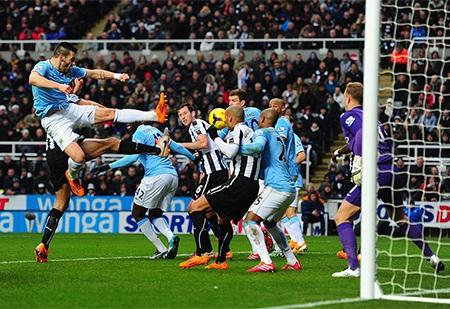 Sức ép của Newcastle khá lớn trong những phút còn lại