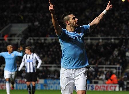 Với 2 cú sút, tiền đạo người Tây Ban Nha ấn định chiến thắng cho Man City