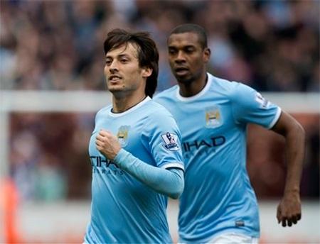 Silva có công đầu trong chiến thắng của Man City