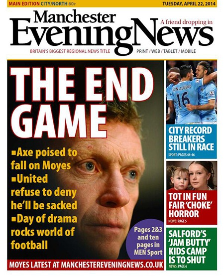 Tờ Times cho rằng MU sẽ phải thực hiện cắt giảm lỗ và sa thải Moyes