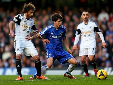 Chelsea sẽ lên ngôi đầu nếu họ thắng Swansea và Liverpool hòa Man City
