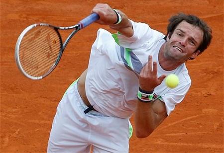 Gabashvili thi đấu tốt ở giai đoạn đầu của trận đấu