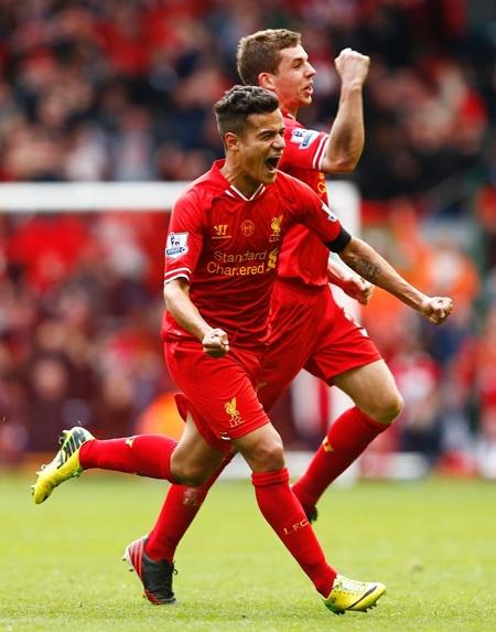 Sai lầm của Kompany ở phút 78 đã được Coutinho tận dụng để ấn định chiến thắng 3-2 cho Liverpool