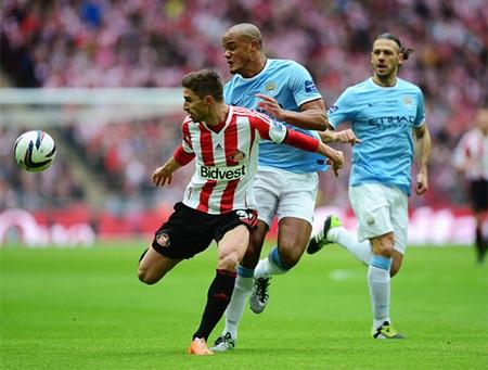 Man City từng gặp Sunderland 2 lần trong mùa giải năm nay