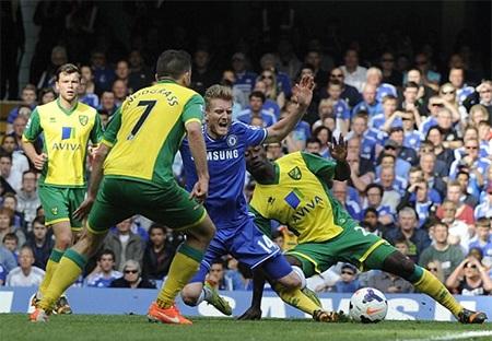 Chelsea đã thi đấu đầy bạc nhược trước Norwich