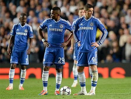 Nỗi buồn của các cầu thủ Chelsea