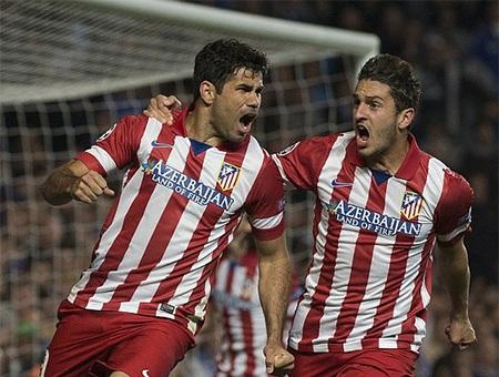 Niềm hạnh phúc của các cầu thủ Atletico