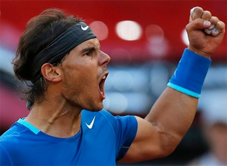 Nadal đã có 44 danh hiệu trên mặt sân đất nện